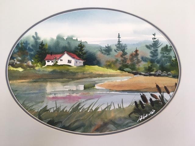 Mindemoya Memories 11 x 14 watercolour (matted 16 x 20)