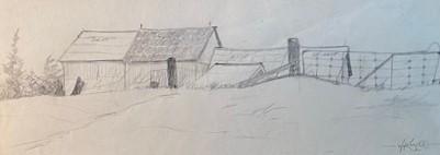 FARM NEAR NORTH BAY   4.25 x 11.5 pencil