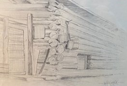 DOVETAILS  6.24 x 9  pencil