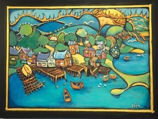 Little Villages #3 18 x 24 acrylic