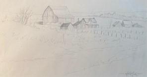STURGEON FALLS FARM #2 5 x 9.5 pencil