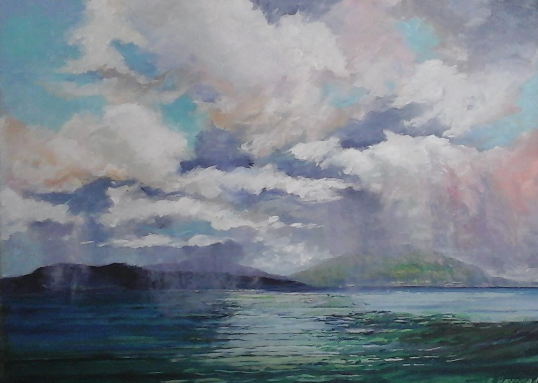 Shower Over the Island 18 x 24 oil