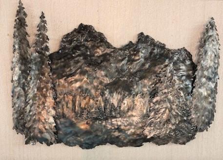SUBTLE DISTINCTION  17 X 25   metal sculpture