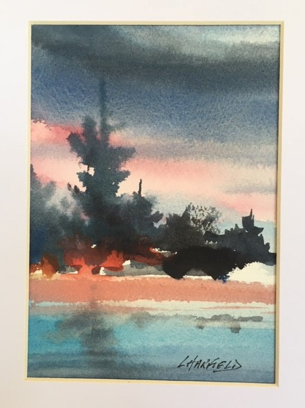 Red Skies Mean a Good Tomorrow 7 x 5 watercolour (matted 10 x 8)