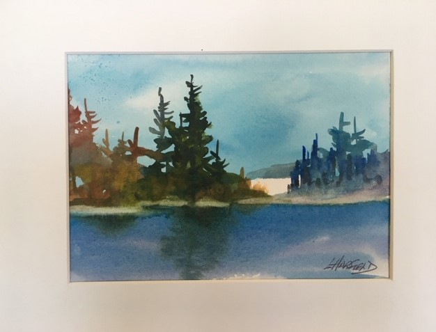 Simply Quiet  5 x 7 watercolour (matted 8 x 10)