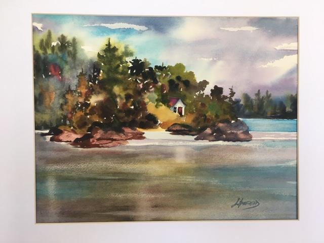 Manitoulin Assiginack Island Cabin on Sucker Lake 11 x 14 watercolour (matted 16 x 20)