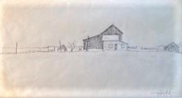CHELMSFORD FARM #2  4.5 x 8.5 pencil