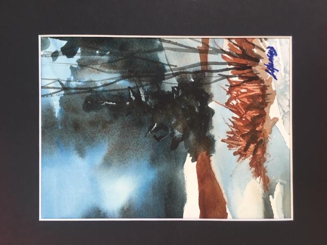 Hazy Light Morning 7 x 5 watercolour (matted 10 x 8)