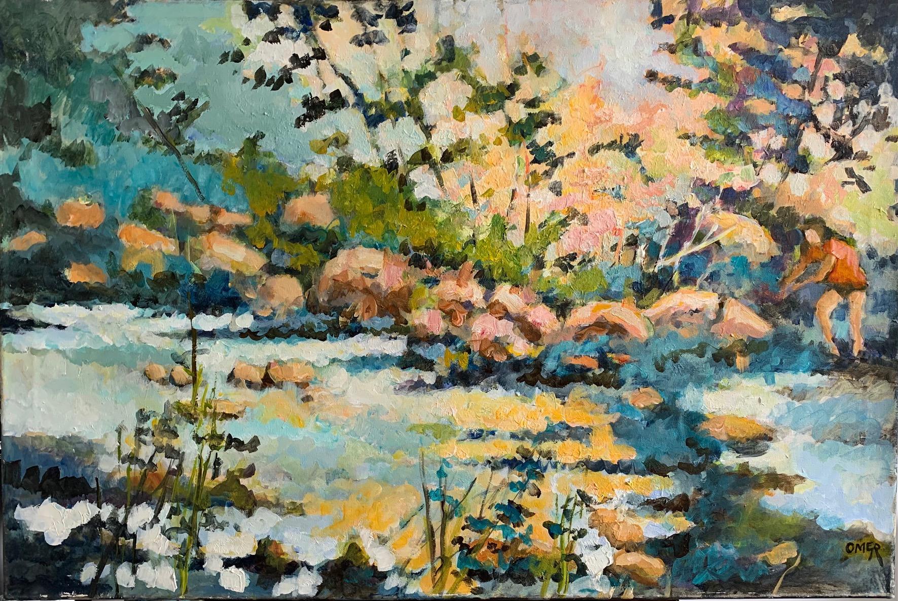 Beside the rapids acrylic24x36