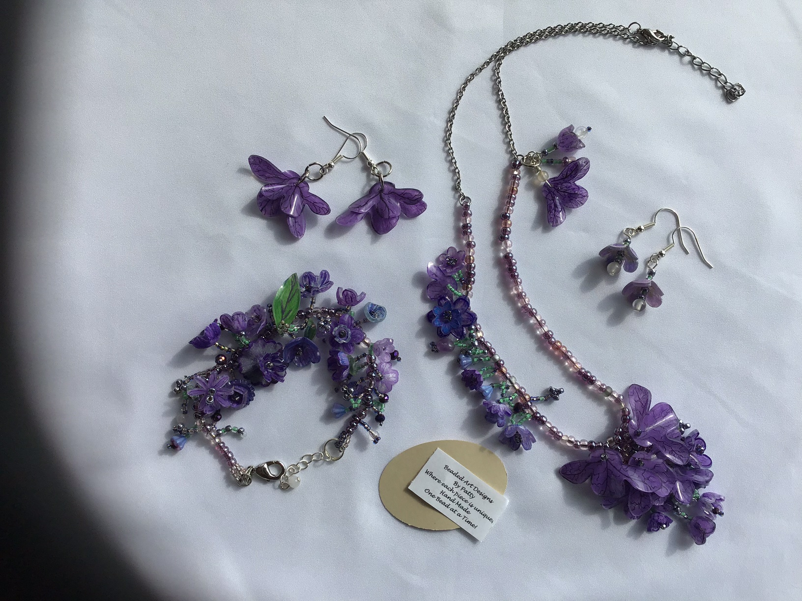 Walk in the Garden Line hand made beads, gemstones and seed beads