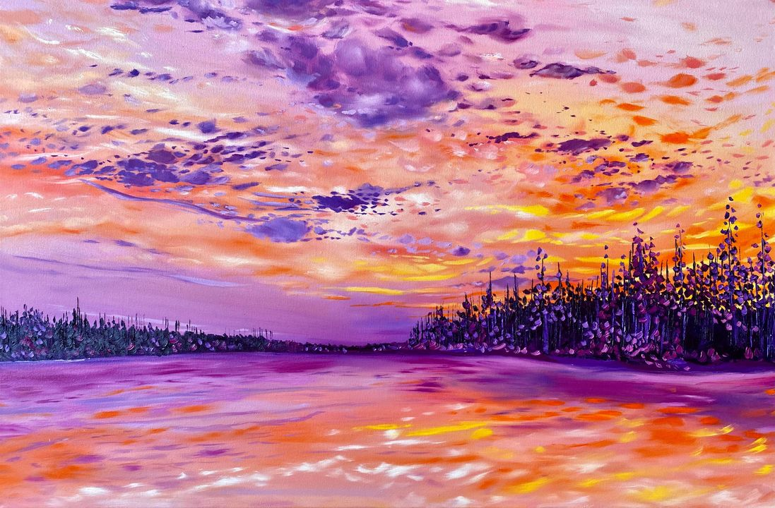 """""""SERENITY"""" 24 x 36 oil on canvas."""