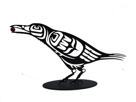 First Nations Crow 10 x 18 with Berry or Pearl $98