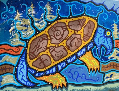 MANITOU TURTLE 16 x 20 acrylic