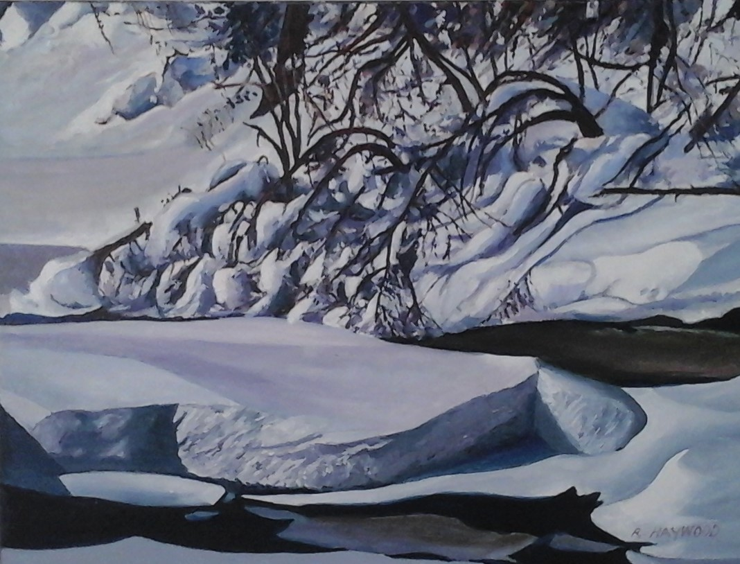 Winter's Charm 18 x 24 oil