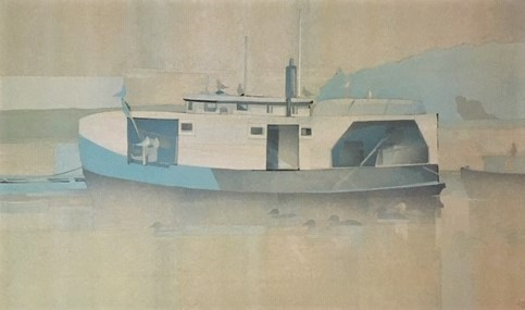 Cook's Dock 12 x 20 (22 x 29) collage