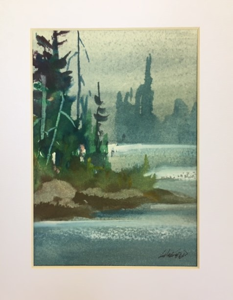 True North Strong and Free 7 x 5 watercolour (matted 10 x 8)