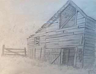 OLD BARN #3   8 x 10.5 pencil