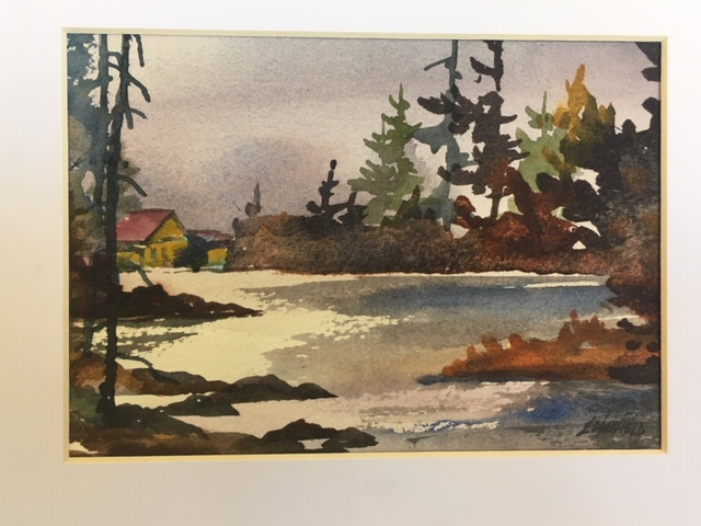 Old Cabin, Quiet Getaway 5 x 7 watercolour (matted 8 x 10)