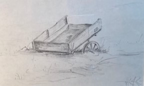 OLD WAGON  5 x 8.25 pencil