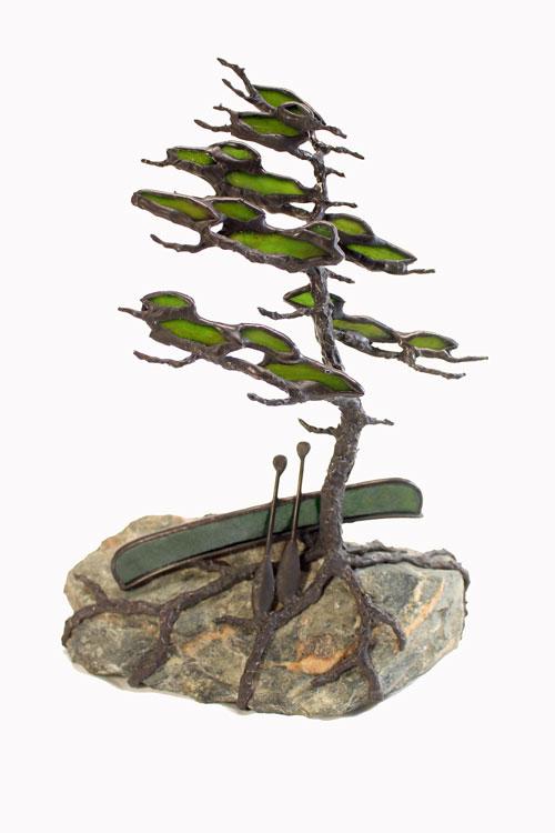 Canoe Series #35    H6 W5 D2.5 sculpture by Peter Allan Rice