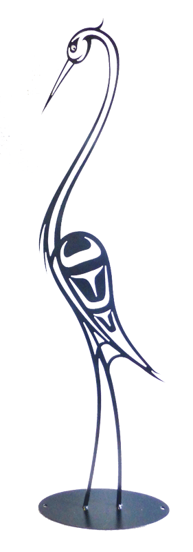 First Nations Heron  36 x 9