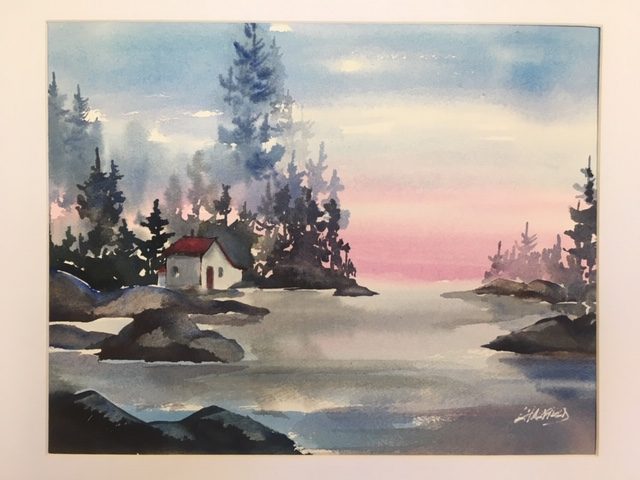 A Place to Dream About 11 x 14 watercolour (matted 16 x 20)