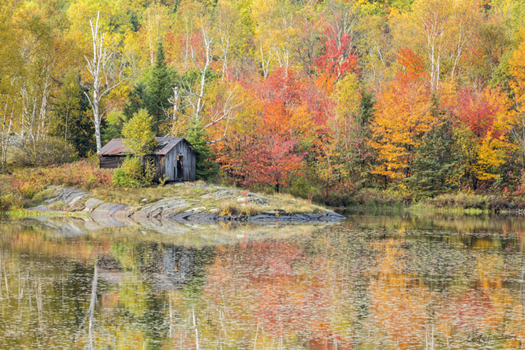 Autumn Quiet, St. Pothier Lake 18 x 27 photography on aluminum