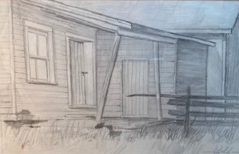 THE STOOP  6.25 x 10.25 pencil