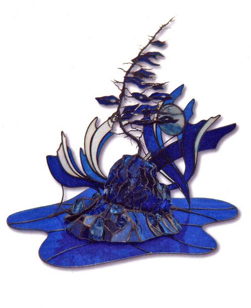 Blue Mystique 22W x16H inches