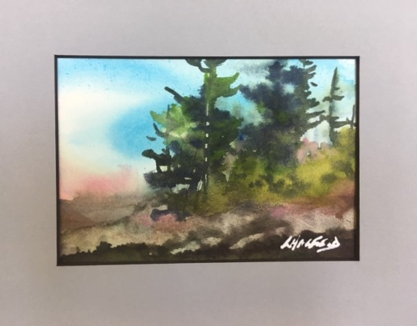 Wilds of Manitoulin  5 x 7 watercolour (matted 8 x 10)