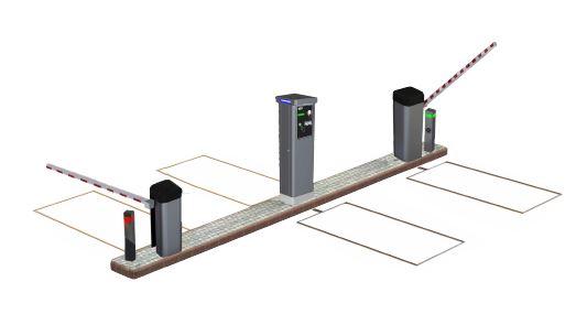 Ejemplo control accesos recinto con ENTRADA y SALIDA