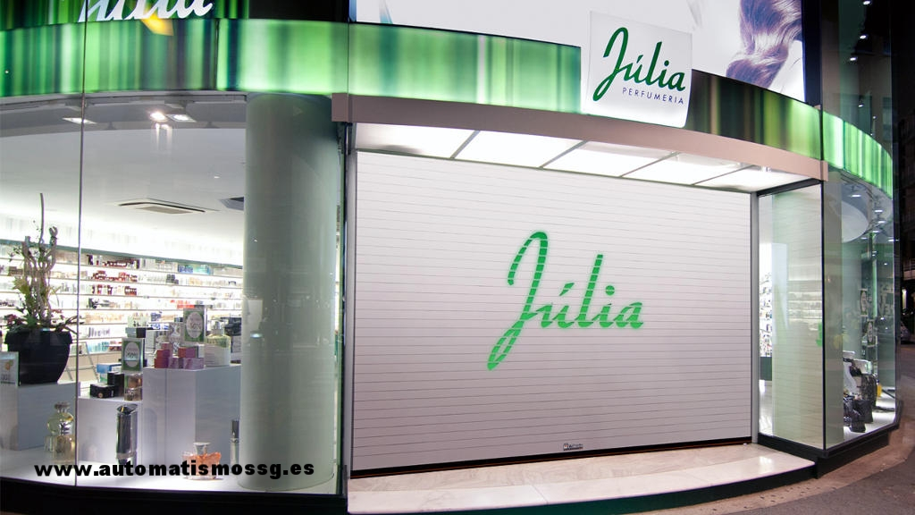 Cerramiento para perfumeria y farmacias