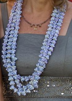 triple strand purple crown flower lei website of halatropicalflowers