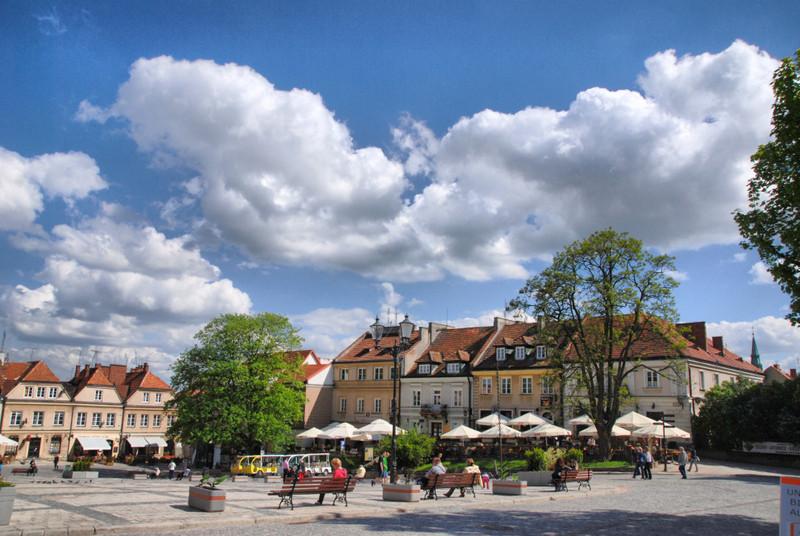 Marktplatz von Sandomierz. (c) Ewa Sierokosz
