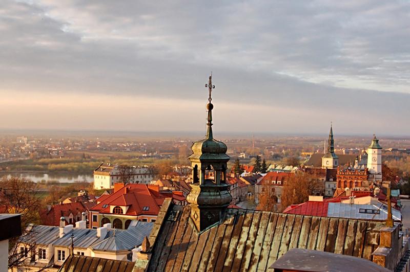 Stadtpanorama von Sandomierz. (c) Andrzej Kozicki