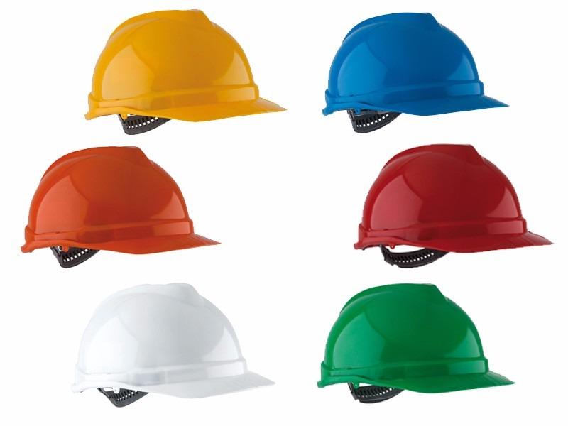 Este significan los colores de los cascos industriales