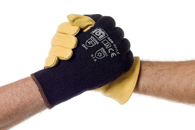 ¿De qué materiales están fabricados los guantes de seguridad?