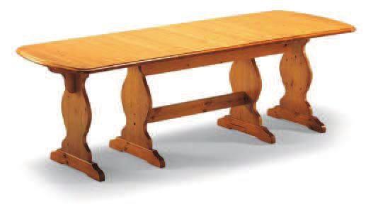 tavolo allungabile 160/250x90x4T/725- H.75