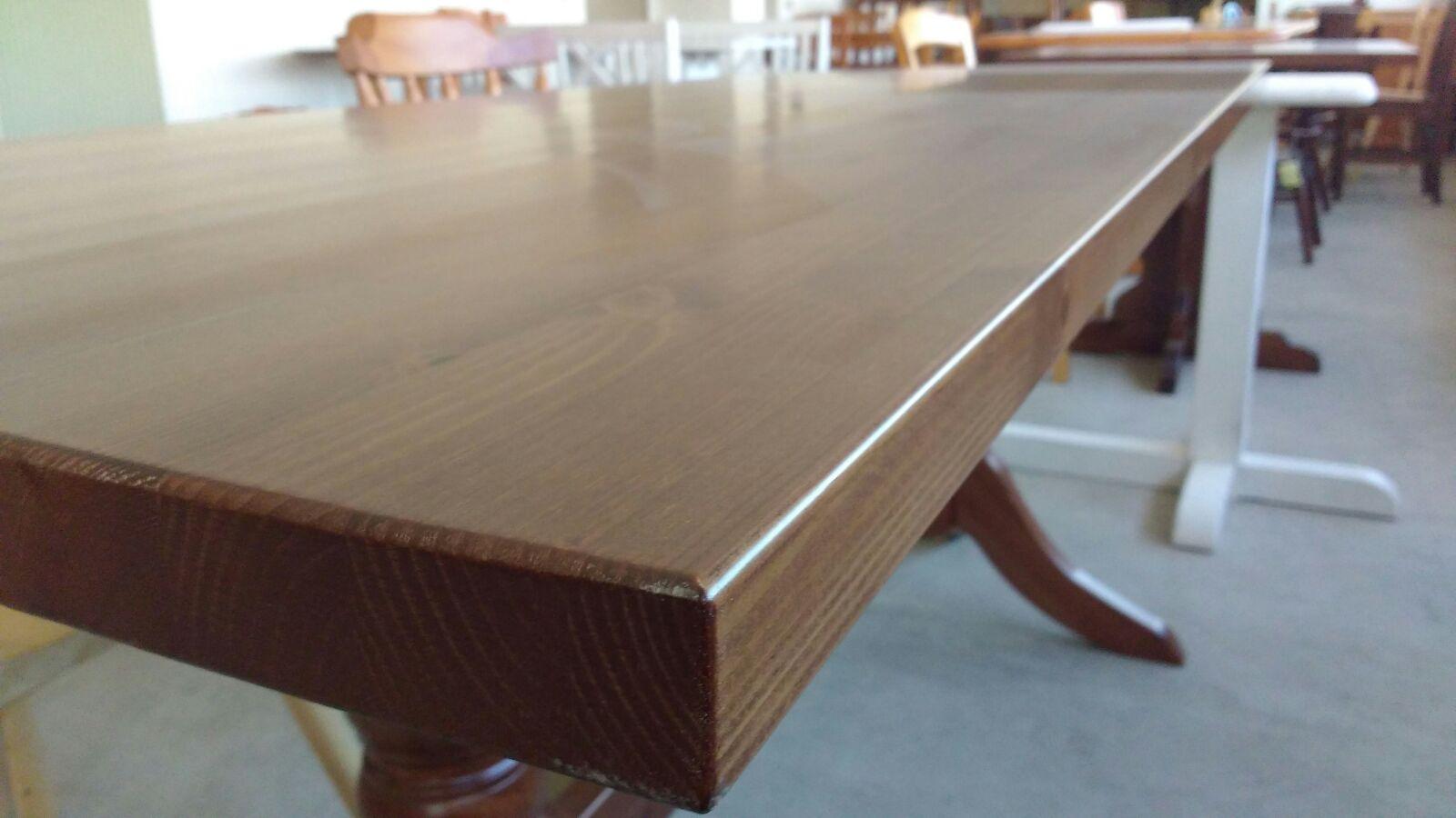 art. pn 67-piano tavolo spessore tinta noce disponibile mis. 70x70 120x70