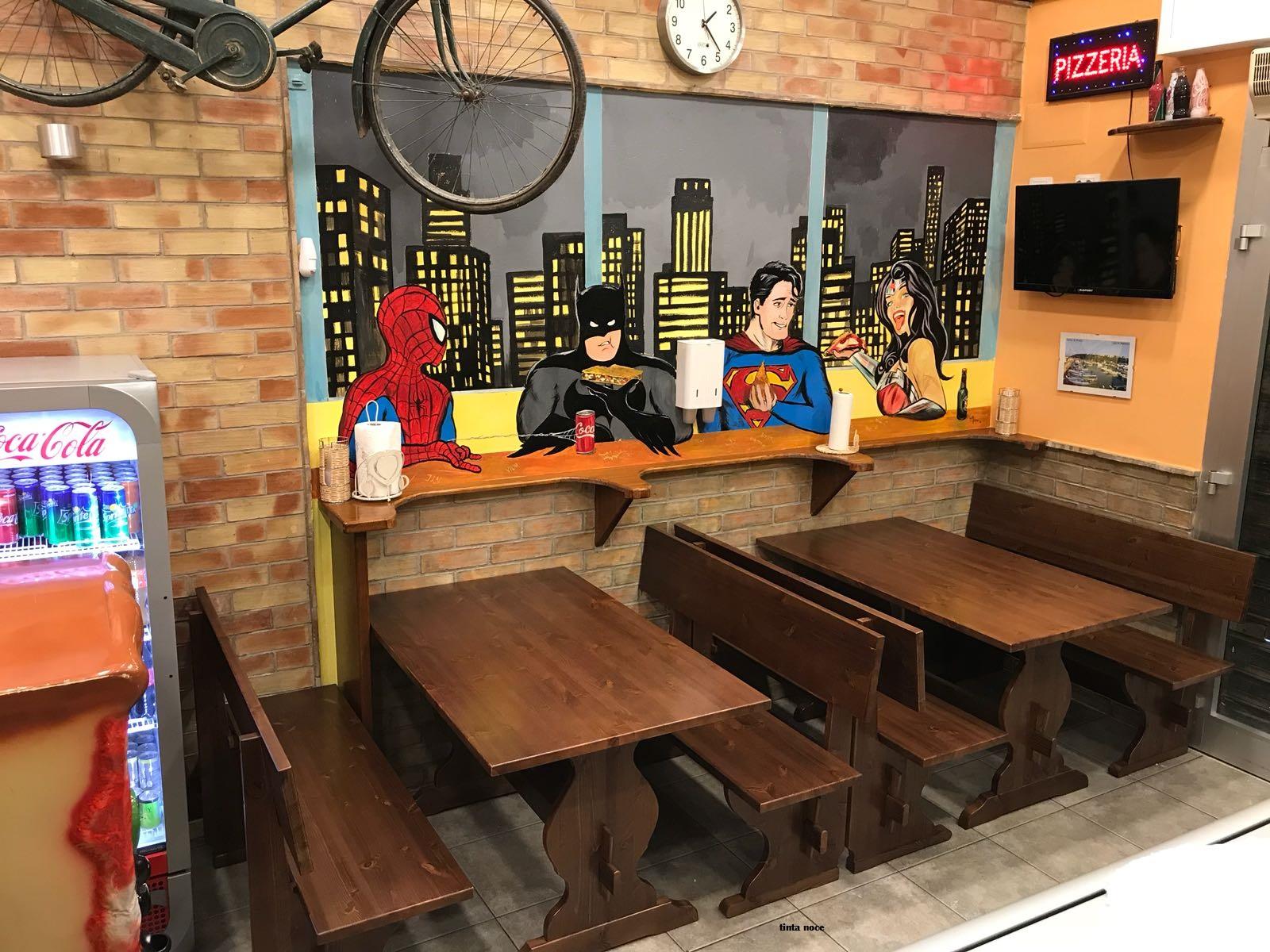 Panche e divanetti imbottiti per pub arredo bar lounge for Arredare pizzeria