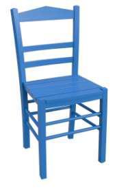 art br 343 sedia da esterno in legno azzurro