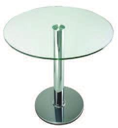 tavolo in  vetro trasparente o opalizzato art.59