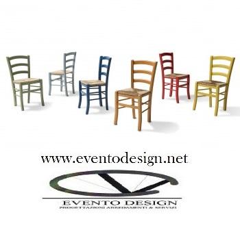 art.08 sedie venezie colorate sedile paglia