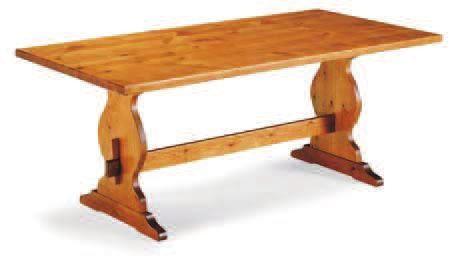 T/254 tavolo fratino MIS. 200X90X4 TINTA MIELE