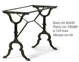 base art 104 IN GHISA PER MASSIMO PIANO 120X70
