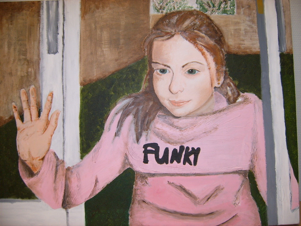 Portret van mijn nichtje (acryl op doek)