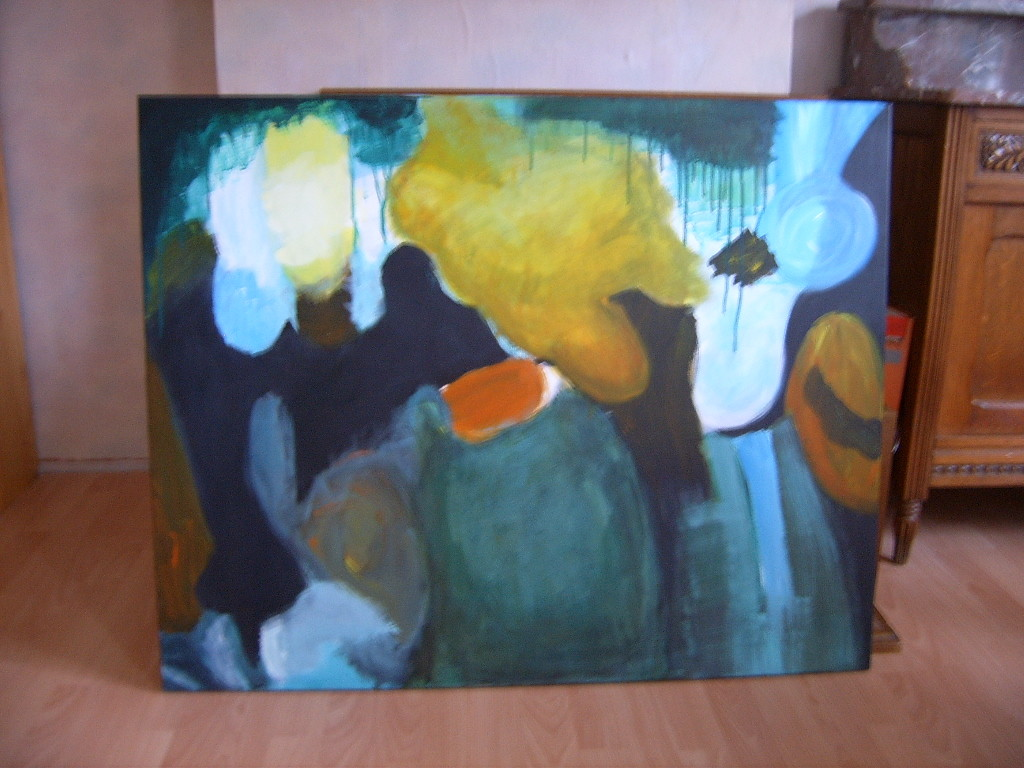 Abstract vluchtigheid (acryl op doek)