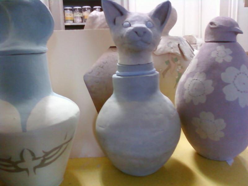 Egyptische urne (klei)