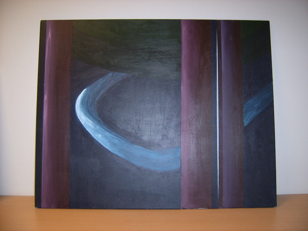 Abstract stoel (acryl op doek)