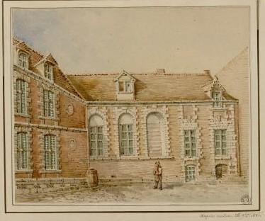Ancien couvent des Carmélites (Coll. Macqueron. BM Abbeville)